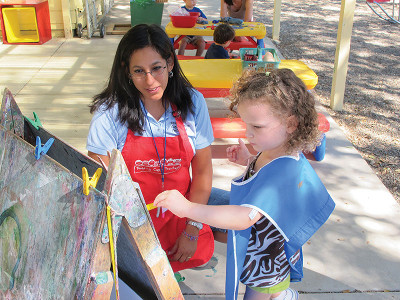 teacher_shares_outside_painting_time